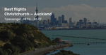Jetstar Sale Fares Eg $97 Return from Christchurch to Auckland