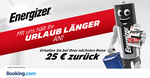 Get €25 (~$43 NZD) Cashback for Any Reservation of €100+ (~$171 NZD) @ Booking.com via Energizer Holidays
