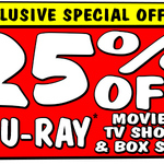 25% off Blu-Ray's (In Store Voucher) @ JB Hi-Fi