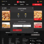 Upsize to XL Pizza for Free @ Pizza Hut