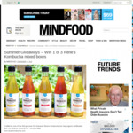 Win 1 of 3 Rene's Kombucha Mixed Boxes from Mindfood