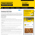 Free $10 Christmas Club Credit upon Joining @ Pak N Save