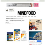 Win 1 of 3 Manuka Health Prize Packs from Mindfood