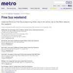 [Christchurch] Free Bus Travel This Weekend (21/9+22/9) for World Car Free Day + Food Deals with Metrocard