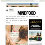 Win 1 of 9 copies of The Gift of Words from Mindfood