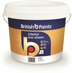 British Paints 8L White Low Sheen Interior Paint - $35 @ Bunnings