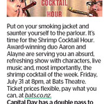 Win a Double Pass to Shrimp Cocktail Hour from The Dominion Post (Wellington)