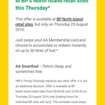Save 10c/Litre at BP (North Island Only) with AA Smartfuel (Min $40 Spend) Thursday 25th August