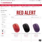 Microsoft Wireless Mobile Mouse 1850 (Red / Black / Purple) = $13.30 (Delivered) from The Warehouse