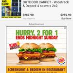 2 for 1 King Hashie ($10.90) @ Burger King