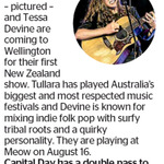 Win a Double Pass to see Tullara & Tessa Devine from The Dominion Post (Wellington)