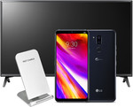 "Buy The LG G7 & Get a Bonus LG 2018 43"" Full HD Smart TV and Fast Wireless Charger (Worth $1078) from PB Tech for $1,198.98"