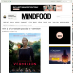 Win 1 of 10 Double Passes to 'Vermilion' from Mindfood
