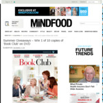 Win 1 of 10 copies of 'Book Club' on DVD from Mindfood