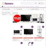 """Farmers - Panasonic 40"""" LED TV TH-40A400Z $469, VS Sassoon Curling Tong $10  + $7 Delivery"""
