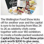 Win a Food Show Prize Pack Including Hamper + 2 Tickets to Wellington Food Show (Worth $200) from The Dominion Post
