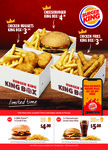 2x Whopper Jnr + 2x Small Fries $7 - 1x Cheeseburger Small Value Meal (Small Fries + Coke) $5 + More Vouchers @ Burger King