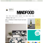 Win a Wallace Cotton Duvet Set and Throw (Worth $302) from Mindfood