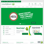 4 Free Deliveries for Orders over $80 @ Countdown