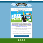 Free Pint of Ben and Jerrys Non-Dairy Chocolate Chip Cookie Dough Ice Cream from Ben & Jerry's Stores