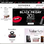 20% off Everything (Today Only) Black Friday @ Sephora
