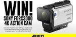 Win a Sony FDRX3000 4K Action Camera from JB Hi-Fi