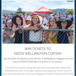 Win 1 of 3 Double Passes to NZCIS Wellington Cup Day on 19 January from Wellington Airport