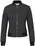 76% off Women's Multi-Pocket Zip Front Stand Collar Jacket Coat Tops, USD $6.48 (~NZD $9.52) @ GraceKarin