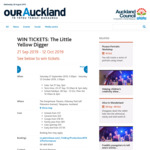 Win The Little Yellow Digger Tickets from OurAuckland (September 2019)