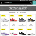 Extra 20% off (Shoes from $29.99) @ Platypus