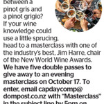 Win 1 of 5 Double Passes to New World Wine Masterclass from The Dominion Post (Wellington)