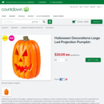 Large Led Projection Pumpkin Halloween Decoration $20 (Was $25) @ Countdown