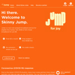Skinny Jump (For Low-Income) 30GB/$5 Per Month to 150GB/$25 Per Month 4G Home Internet + Free First 30GB, Modem & No Contract