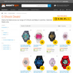 15% off Selected CASIO G-SHOCK Watch Range @ Mighty Ape