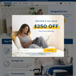 $250 off all Ecosa Mattresses (Email Subscription Required)