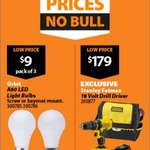 Orbit A60 LED 3 for $9 - Mitre 10 online only