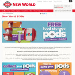Free Storage Pods with Sticker Collection @ New World
