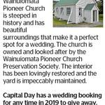Win a Wainuiomata Pioneer Church Wedding Booking from The Dominion Post (Wellington)