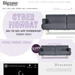 25-50% off (Cyber Monday) @ Big Save Furniture