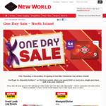 One Day Sale - North Island (and South Island) @ New World - Thursday