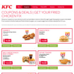 5 Pieces of Chicken + Reg Chips $9.99 @ KFC