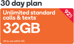 32GB Data, Unlimited Calls/Text 30 Day Plan Voucher $2 @ Kogan Mobile/Dick Smith (New SIM Cards Only)