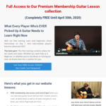 Free Guitar Lessons (Normally $29 USD/Month (~$48NZD)) from GuitarJamz