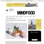 Win a RAWKANVAS skincare pack (worth $252) from Mindfood