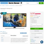 "Samsung 65"" 4K Smart TV $1,797 @ Harvey Norman"