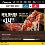 3 Traditional Pizzas $21.99 Delivered @ Domino's