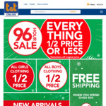 Everything 1/2 Price or Less + Free Shipping over $40 @T&T Childrenswear (Online & in-Store)