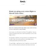 Win Flights to Hawaii with Hawaiian Airlines and Remix Magazine
