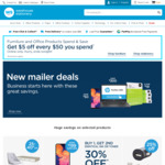 $5 off Every $50 Spent on Furniture and Office Products @ Warehouse Stationery