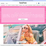 Boohoo - up to 50% off Absolutely Everything + an Extra 20% off + Double Cashback (8%) via ShopRewards